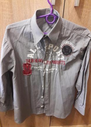 Фирменная рубашка котон 158 см