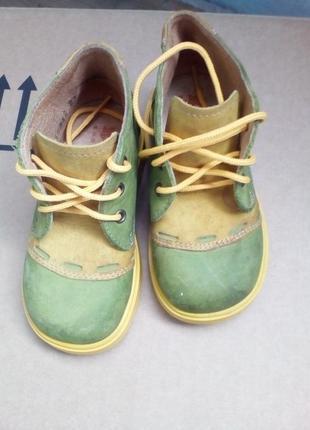 Кожаные ботинки на шнурочках (италия)