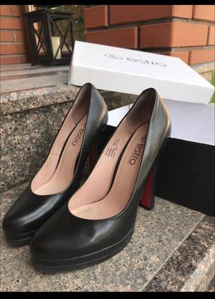 Кожаные туфли, кожа, estro