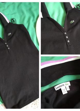 Стильная катоновая футболка поло с открытой спиной, lacoste, p. 6