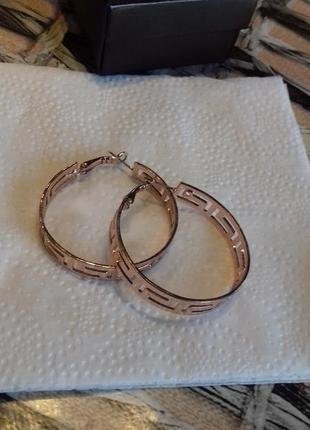 Серьги кольца с покр. золота