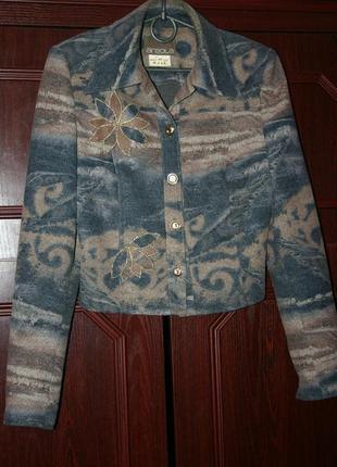 Трикотажный укороченный пиджак (беларусь)