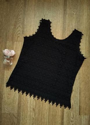 Ажурный топ / кружевная блузка без рукавов