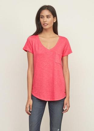 Розовая футболка  abercrombie&fitch