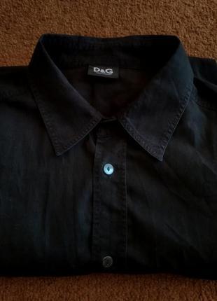 Рубашка оригинал dolce & gabbana оригинальная черная мужская