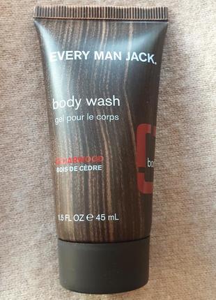 Мужской гель для душа every man jack с ароматом кедрового дерева
