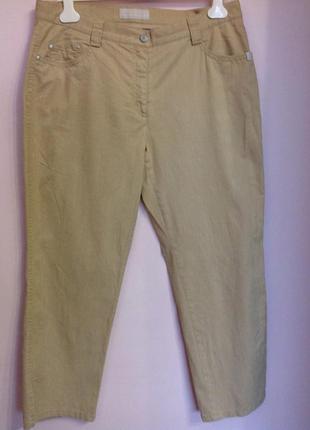 Бежевые удобные брюки с высокой посадкой . /44/ brend brax