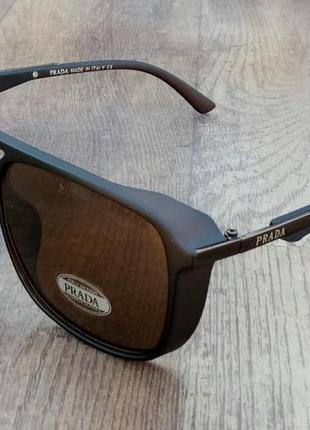 Prada очки мужские солнцезащитные коричневые