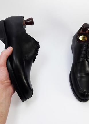 D.h.pollak made in italy кожаные туфли броги оксфорды черного цвета