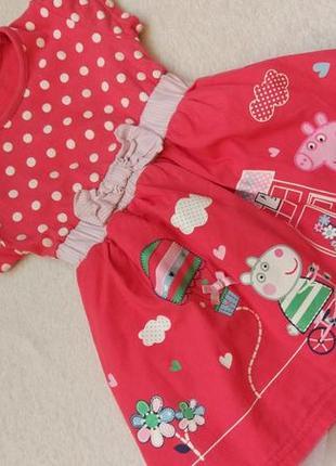 Big sale! яркое платье сарафан свинка пеппа george на 1-1,5 года