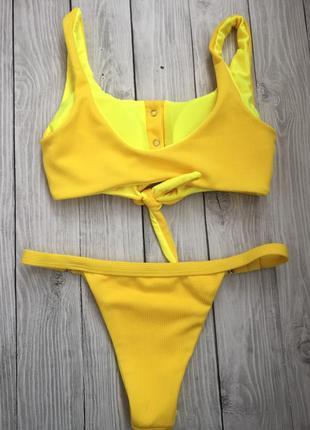 Желтый текстильный купальник в наличии4 фото