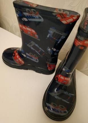Резиновые сапоги на мальчика,детские резиновые сапоги3 фото
