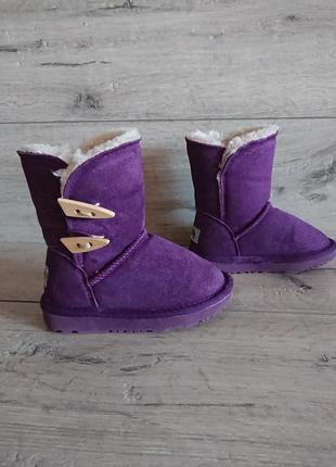 Сапоги ботинки угги  ugg aussie merino 27 р 9 р 17 см замш овчина