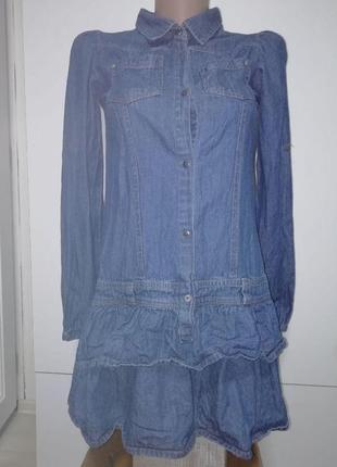 Оригинальное  джинсовое платье на 12-13лет