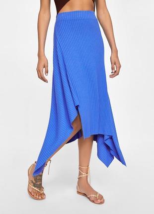 Асимметричная юбка c высокой посадкой zara