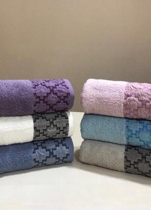 Банные махррвые полотенца премиум качества  венгрия 6 шт1 фото
