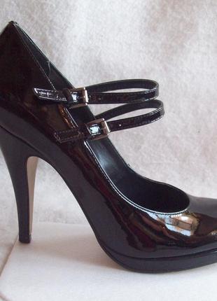 Туфли кожа лак, стелька 25,3 см.
