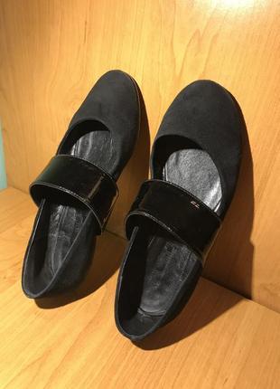 Балетки туфлі замшеві