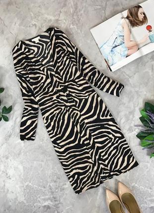 Вискозное платье в хищный принт  dr1913006  h&m