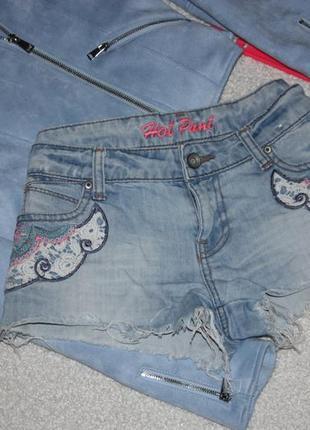 Легкие джинсовые шорты
