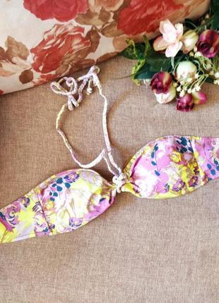 Красивый верх от купальника, бюстгальтер- бандо, лиф веселенькой расцветки.