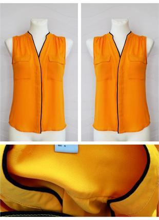 Деловая блузка без рукавов с воротником-стойкой от h&m
