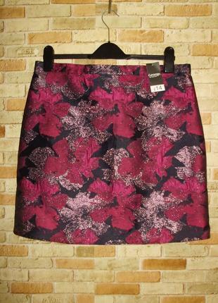 Новая с биркой роскошная юбка с люрексом и цветами 14/48-50 размера