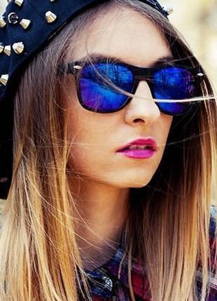Солнцезащитные очки вайфаер рб wayfarer синие унисекс распродажа sale