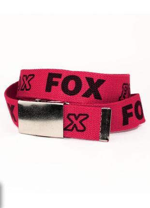 Ремень текстильный fox 4х103 см. идеальное состояние. пояс, тканевый, подростковый