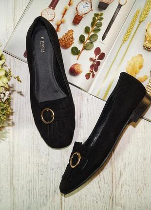 (37/24см) papaya стильные туфли лоферы на низком ходу