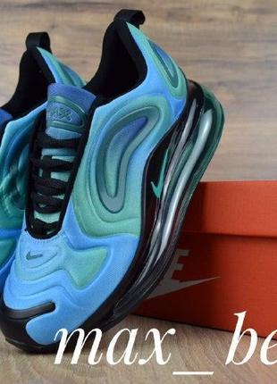 Шикарные женские кроссовки nike air max 720 голубые с бирюзой5 фото