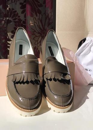 Шикарные кожаные туфли, мокасины - лоферы marina rinaldi, натуральная кожа, оригинал
