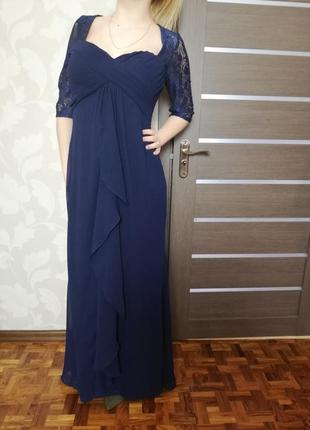 Фирменное эффектное вечернее платье kate kasin новое