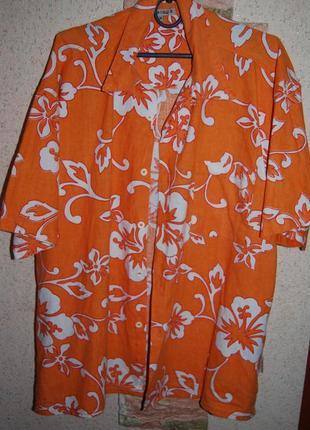Яркая натуральная рубашка 100 % котон