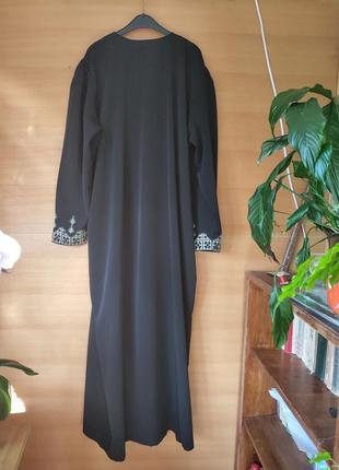 Чёрное длинное платье / абая  / галабея4 фото