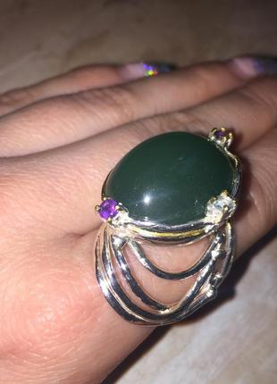 Кольцо с камнем хризопраз кольцо с хризопразом 19 размер натуральный хризопраз