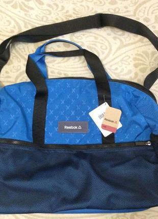 Спортивная сумка reebok, рибок, дорожная сумка, сумка для тренировок