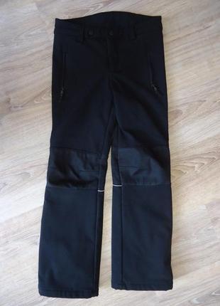 Ветрозащитные брюки из софтшелла, зимние. на 8-10 лет. kidz alive