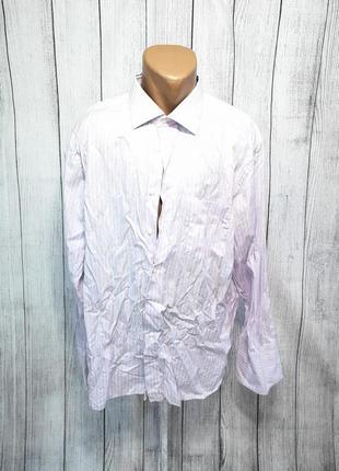 Рубашка стильная ermenegildo zegna, на запонки, cotton, мин сл носки, уценка!