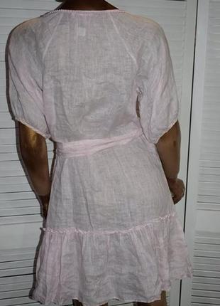 Льняное платье made in italy3 фото