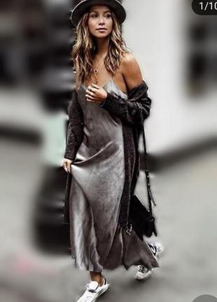Потрясающее платье комбинация zara, размер xs, s