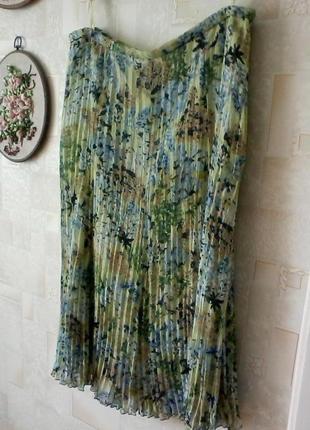 Плиссированная шифоновая юбка миди, от gerry weber, разм.50