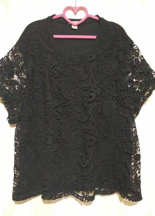 Нарядная блуза с кружевом.