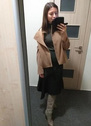Шерстяное полупальто куртка пальто кемел кэмел тауп бежевое