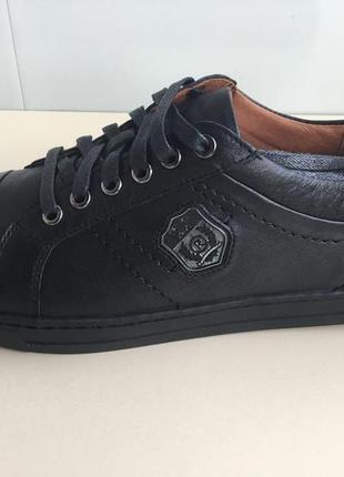Мужские спортивные кроссовки, туфли  rondo из натуральной кожи4 фото