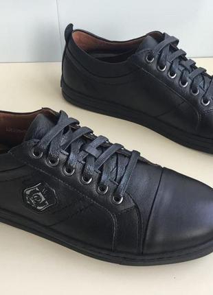 Мужские спортивные кроссовки, туфли  rondo из натуральной кожи5 фото
