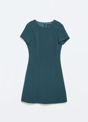 Очень красивое и стильное платье морского цвета от zara