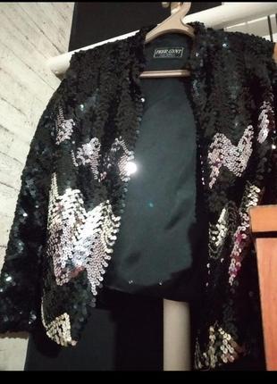 Пиджак peer gynt в паєтках паэтки блеск костюмированный