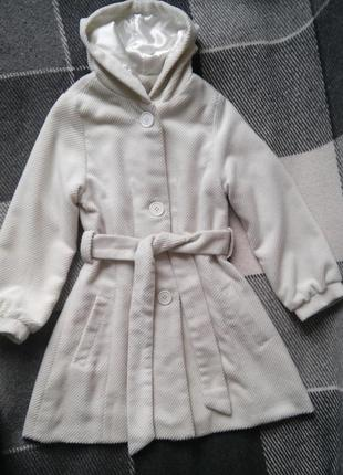 Пальто демісезонне для дівчинки (кашемір)