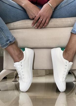 Белые кеды/ очень стильные/ наложка